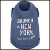犬の服 ルイスドッグ Brunch in New York Blue LouisDog